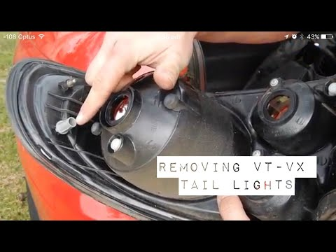 how to remove tail lights (VT-VX Series Holden)