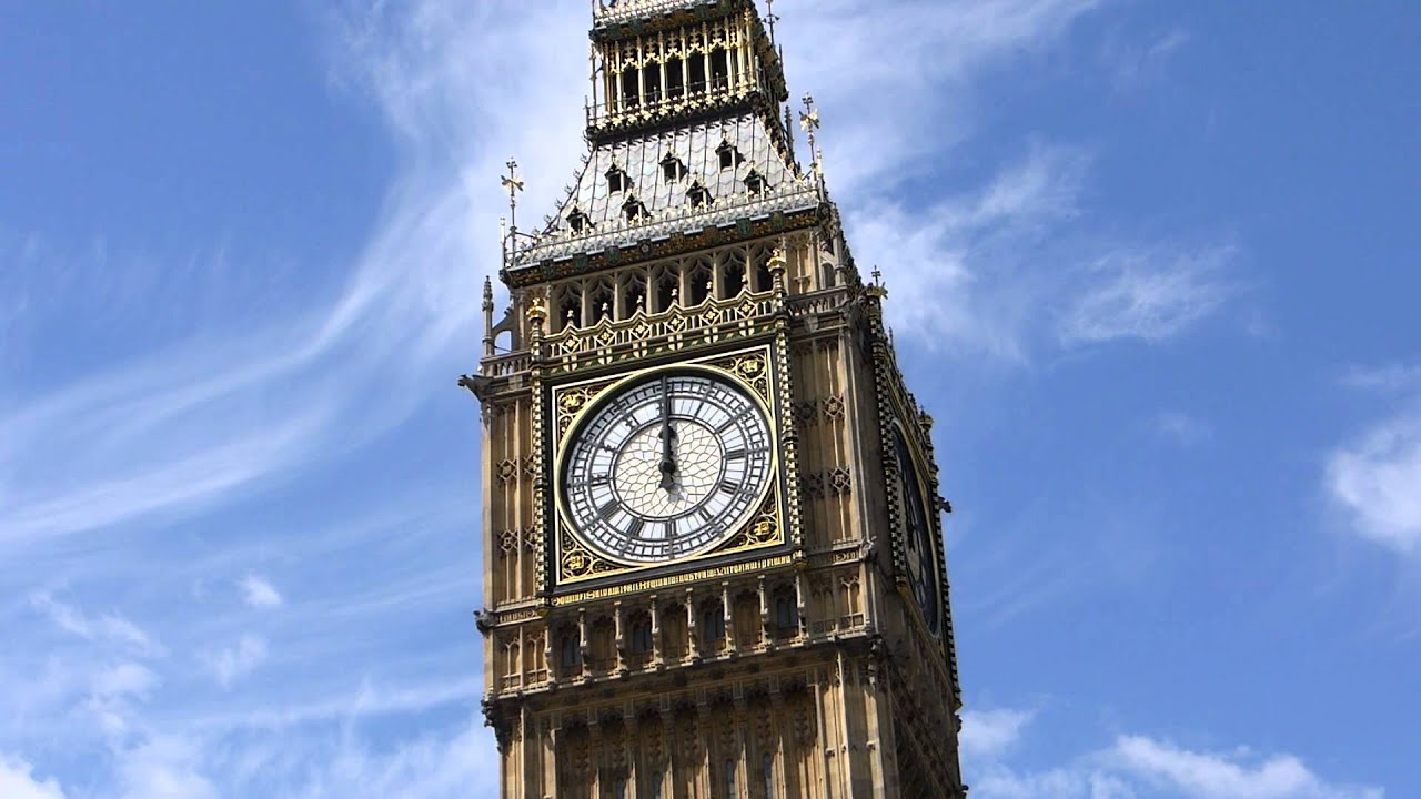 Clock Tower 3d Live Wallpaper Big Ben Chimes Midday Noon 12 London Youtube