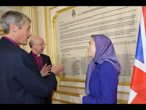 Maryam Rajavi meets with two UK Church leaders, Bishops John Pritchard & Adrian Newman