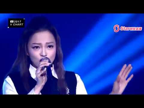 張韶涵 Angela Chang (不害怕+隱形的翅膀) LIVE 第五屆音悅V榜年度盛典 20170408