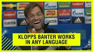 Translator steals the show at Klopp's press conference!