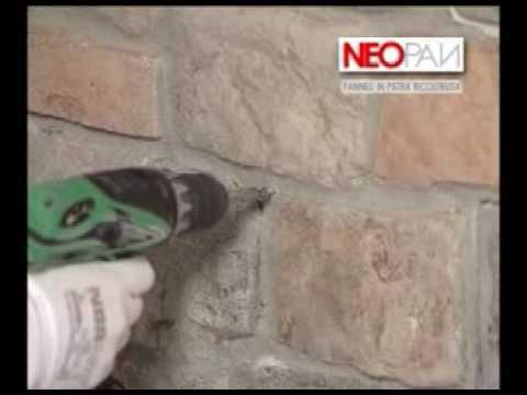 [eSAEM.it] Istruzioni di montaggio - Pannelli in pietra ricostruita - YouTube