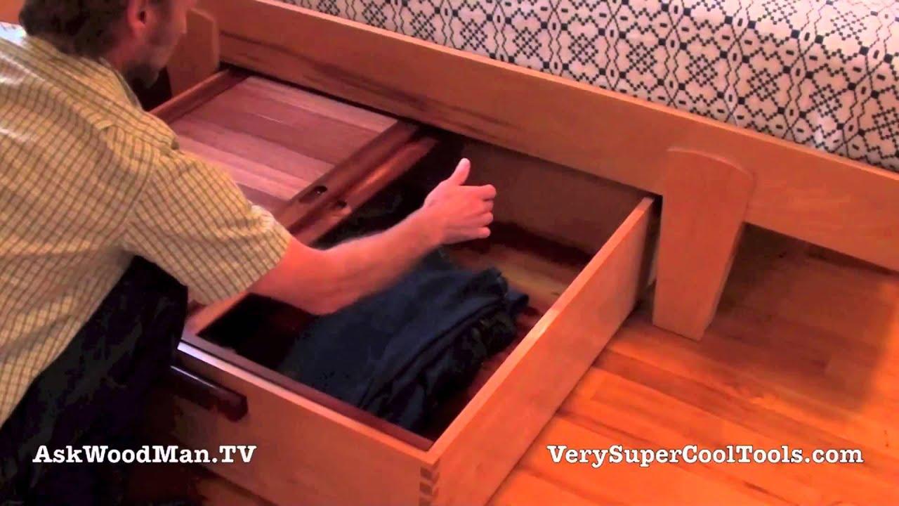 & 20 Platform Bed Storage Drawer u2022 Final Video Part 2 - YouTube