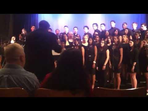 Susan E Wagner High School Spring concert .Advanced chorus .