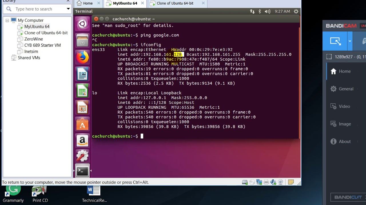 VMWare: How to Ping another virtual machine - YouTube Vmware Ping