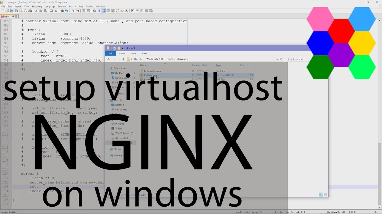 Setup VirtualHost Nginx on Windows (Virtual Domain)