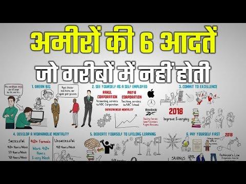 6 HABITS OF RICH PEOPLE | अमीरों की 6 आदतें जो गरीबों में नहीं होती, SUCCESS HABITS IN HINDI