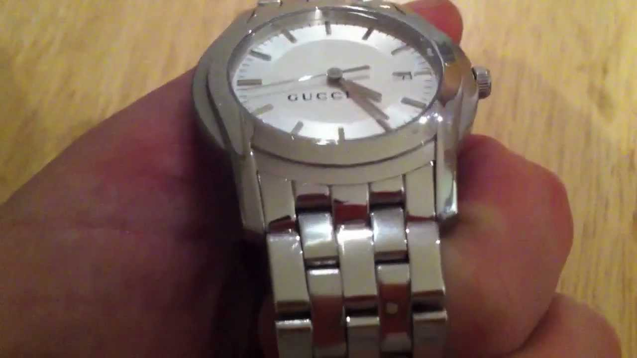 9e8d8851695 Gucci Watch 5500 XL Men s Stainless Steel Authentic - YouTube