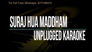 Suraj Hua Maddham | K3G | Unplugged Karaoke