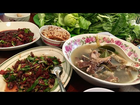 Eating Larb Beef (Lao Food) Home Made  By Kaysone