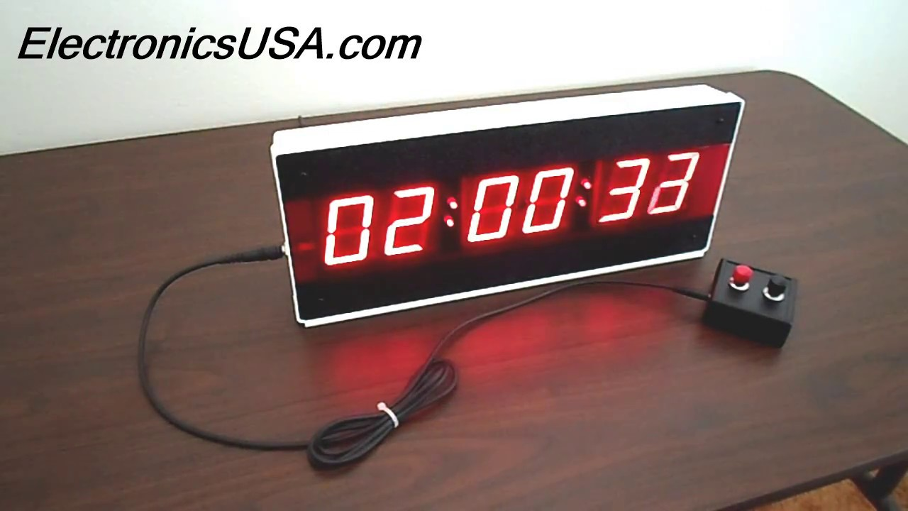 LED Digital Stopwatch Timer List : Large - Small - Industrial Process