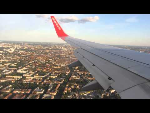 Short Landing at Berlin-Tegel Airport , Air Berlin D-AHXG B737-700 SCN-TXL