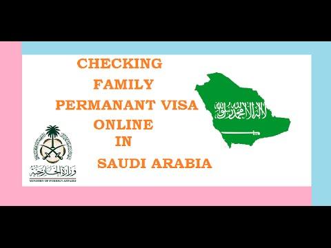 FAMILY PERMANANT VISA CHECKING ONLINE IN SAUDIARABIA