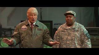 Saturday Night Live 'SNL' Skit Alec Baldwin As Trump Alien Invasion & Scarlett Johansson Monster Dog