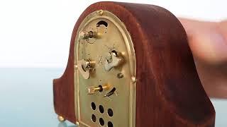 PFEILKREUZ JUNGHANS Antique Clock MANTEL Baby Mini German Miniature Napoleon Hat