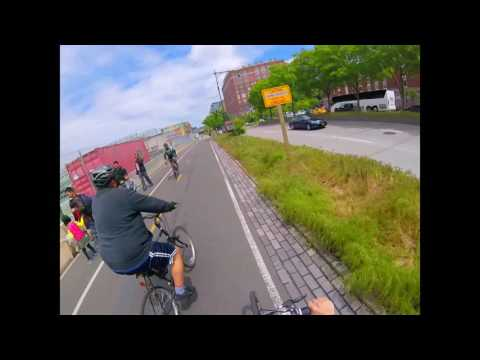 Cycling West Side Highway North From Freedom Tower to Pier I Complete Visual Informational Footage