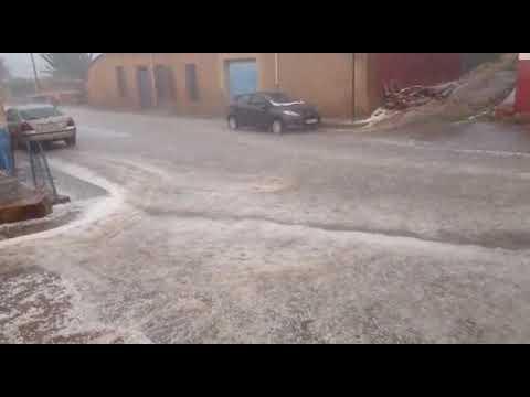 La lluvia inunda Castrillo de las Piedras