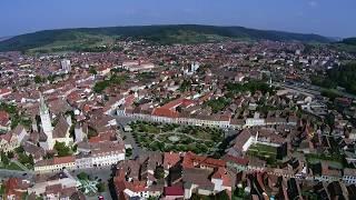 Medias Transilvania Romania Central from above With mine Xiomi Drone