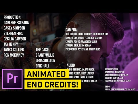 3 AMAZING Ways to Create ROLLING CREDITS in Premiere Pro CC
