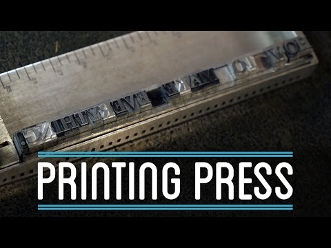 Printing Press | How to Make Everything: Book