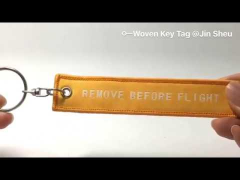 Custom Woven Fabric Jet Pilot Aviation Key Tags