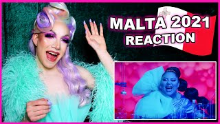 Malta   Eurovision 2021 Reaction   Destiny - Je me casse