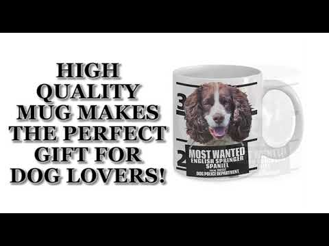Most Wanted English Springer Spaniel – 11oz White Ceramic Coffee Mug
