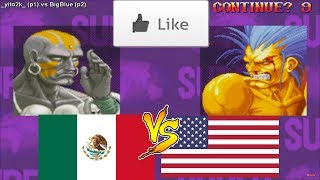 Super Street Fighter 2 Turbo スーパーストリートファイターII X Fightcade ➤ yito2k (Mexico) vs BigBlue (USA)