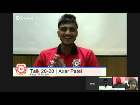 #KXIPHangout Talk 20 20 with Akshar Patel