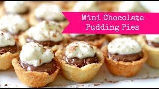 Cute Food: Mini Chocolate Pudding Pies