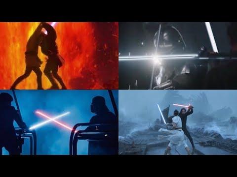 All Lightsaber Duels in Star Wars (Live Action)