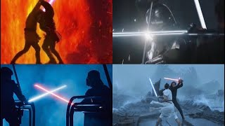 All Lightsaber Duels in Star Wars (Live Action)