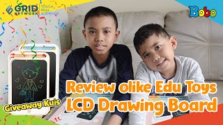 LCD Drawing Board - Giveaway dan Review olike Edu Toys LCD Drawing Board