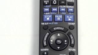 Panasonic N2QAYB000197 DVD Recorder Remote - www.ReplacementRemotes.com