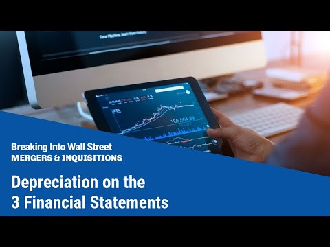 Depreciation on the 3 Financial Statements