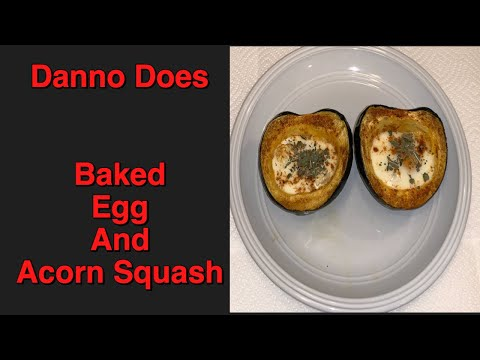 Danno Does Baked Egg and Acorn Squash