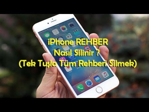 iPhone Rehber Nasıl Silinir ?