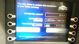#101 Курс в банкомате для снятия злотых с карты для выплат приват мастеркард 3.26 за доллар 20170811