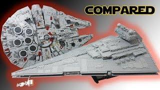 UCS Star Destroyer & Millennium Falcon Compared