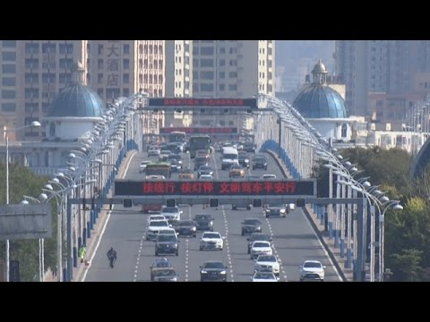 Traffic in China (Harbin), View on Gonglu Daqiao (公路大桥)