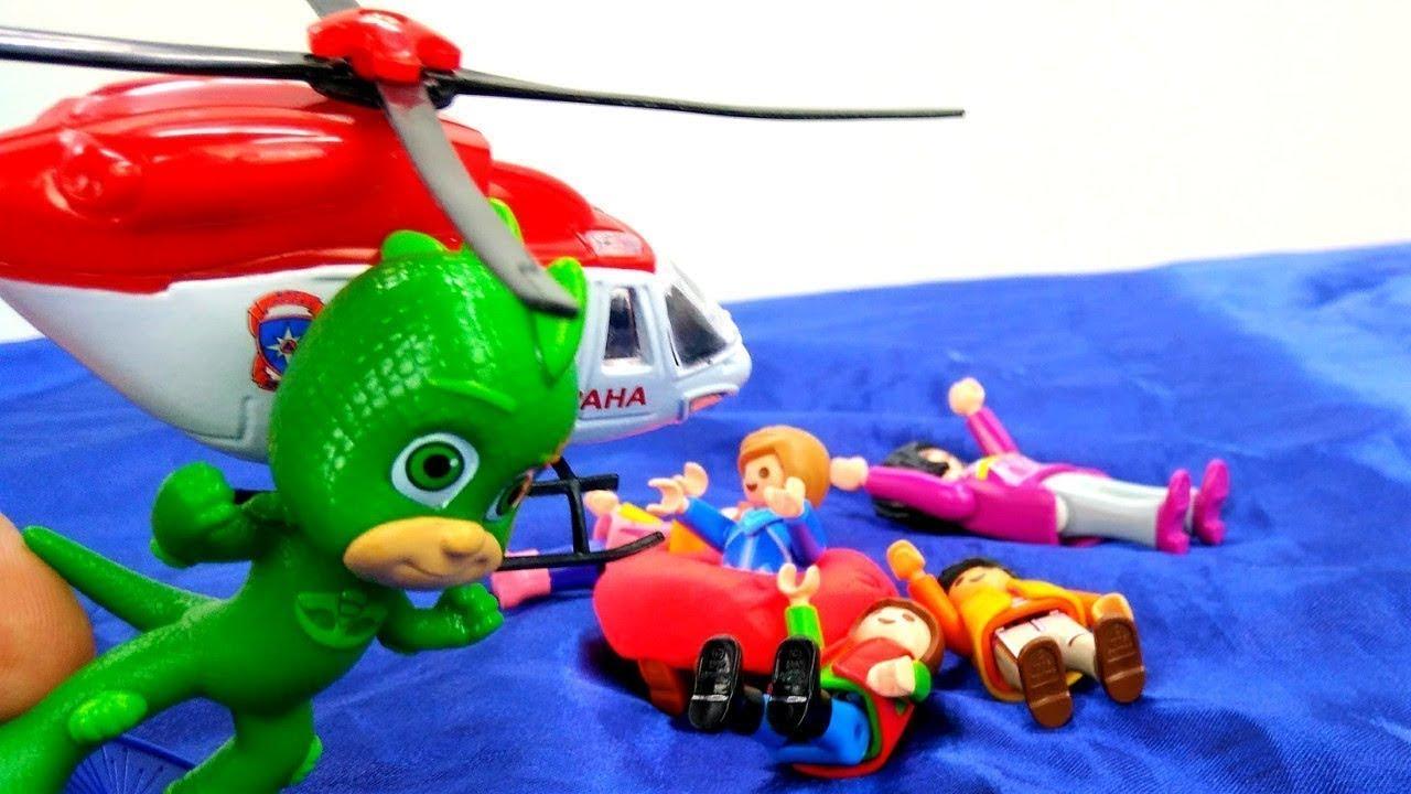 Pj Maskeliler oyunu. Denizde kalan insanları kurtarma operasyonu!