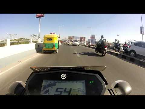 Bangalore Daily #3 | Fz25 | Cop with no rules | High speed Short ride | Raw Video