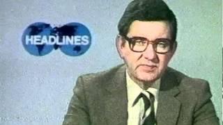 News Headlines BBC1 Richard Baker 1981