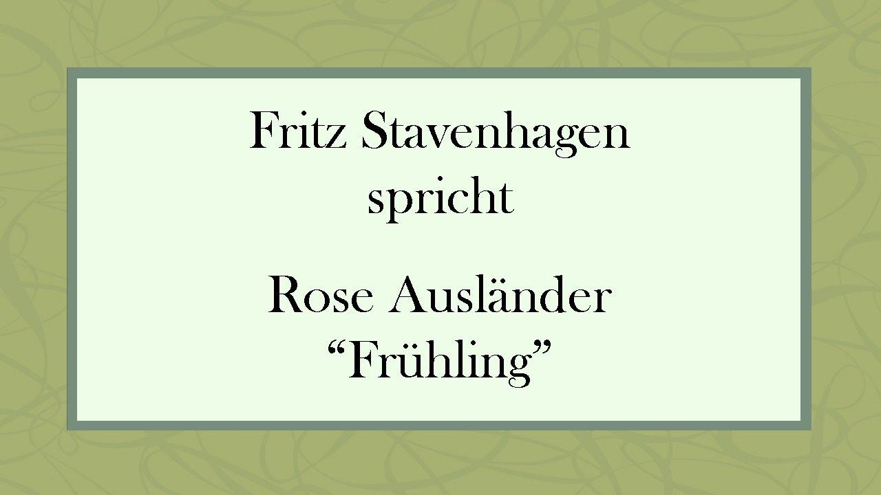 Rose Ausländer Frühling