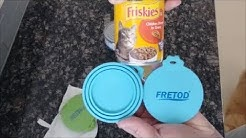 Fretod BPA Free Silicone 3 Size Single Lid Cap For Pet & Food Cans No Plastic Wrap Bags or Tin Foil.