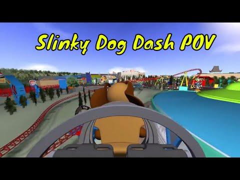 POV 2018 Slinky Dog Dash Roller Coaster Off Ride Toy Story Land Disney Studios Walt World