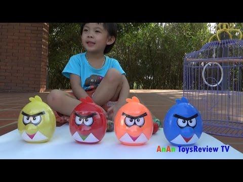 Bóc trứng Angry Birds - Săn bắt chim Angry Birds - Angry Birds surprise eggs ❤ AnAn ToysReview TV ❤