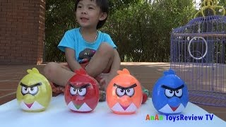 Bóc trứng Angry Birds - Săn bắt chim Angry Birds - Angry Birds surprise eggs ❤ AnAn ToysReview TV ❤