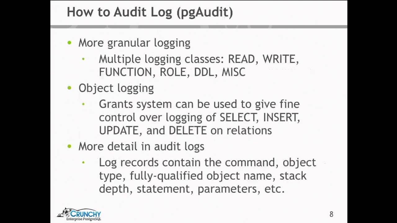 Audit Logging for PostgreSQL