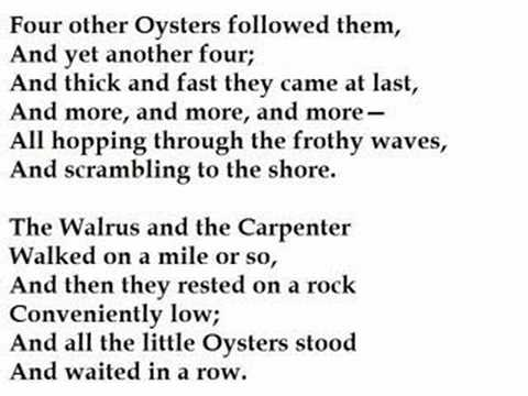 """""""The Walrus and the Carpenter"""" by Lewis Carroll (read by Tom O'Bedlam)"""